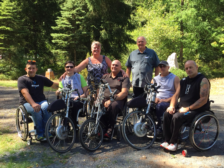 Sportler der neu gegründeten Handbikeabteilung