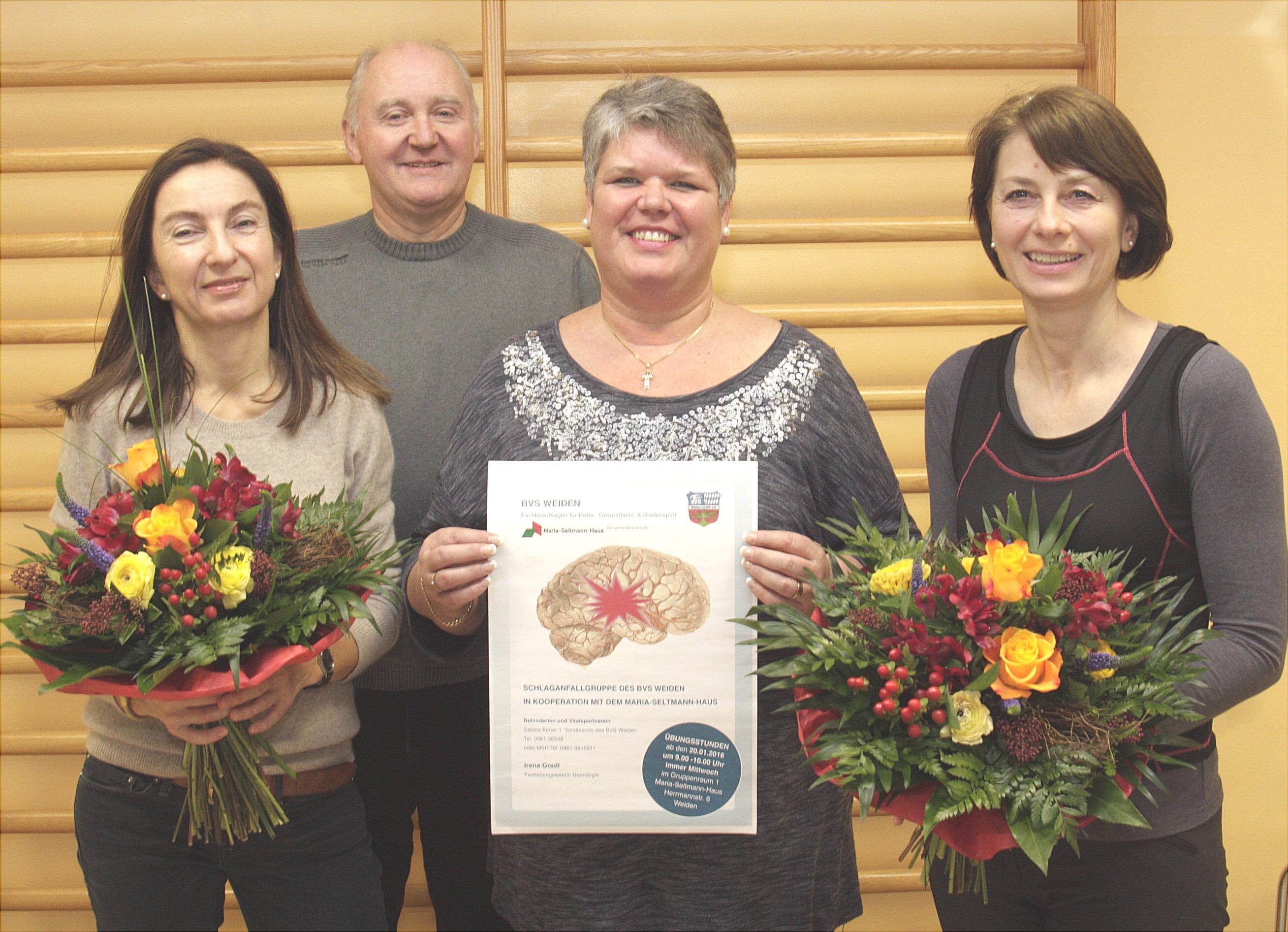 Von links: Susanne Meichner, Teddy Östreicher, Sabine Birner und Irena Gradl