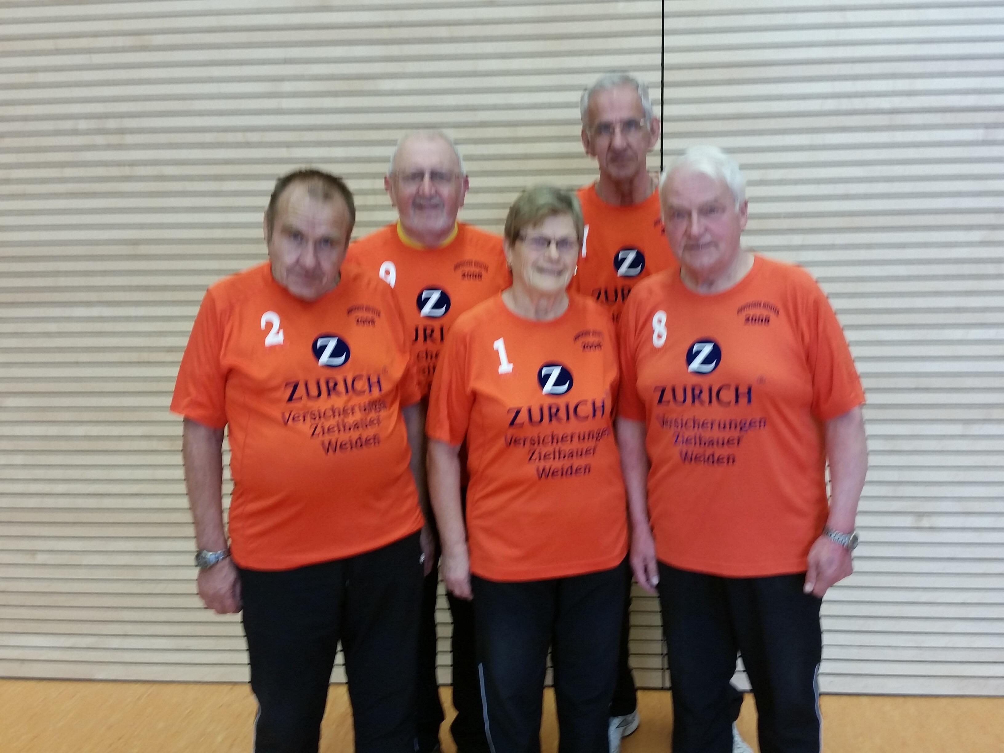 Die Weidener holten sich bei den Bayer. Meisterschaften Hallen-Boccia den 2. Platz