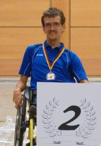 Christoph Voit bei der Siegerehrung