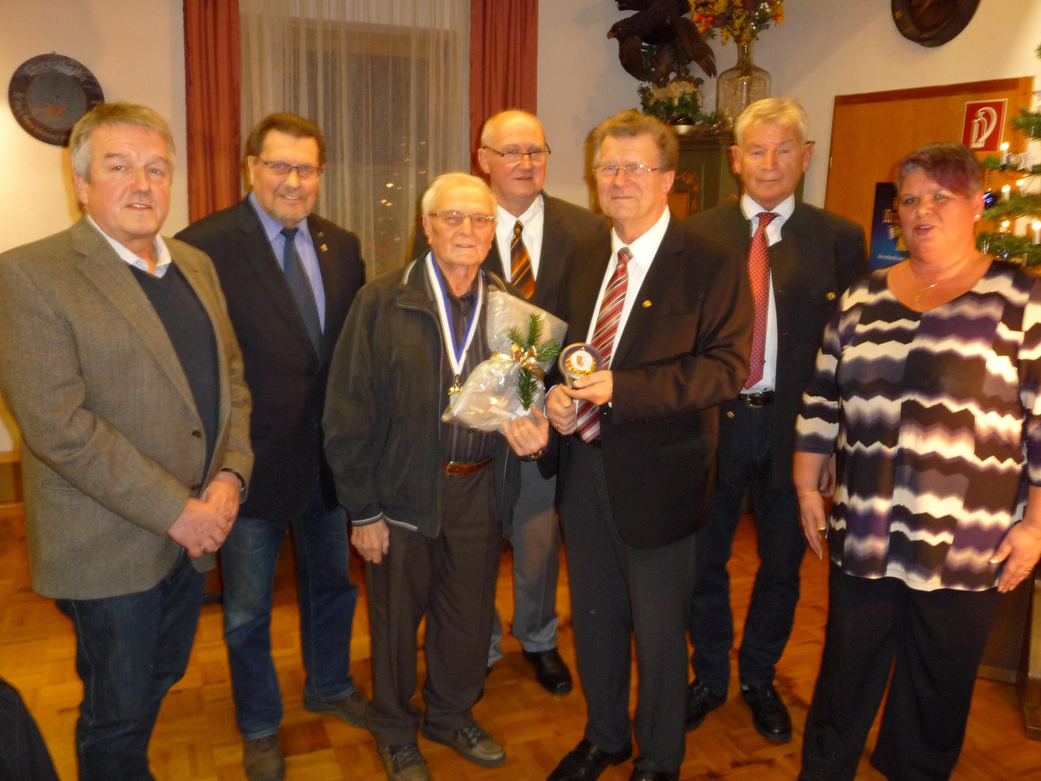 v.r. Sabine Birner, Ernst Werner, Josef Pohl, Teddy Östreicher, Xaver Weickmann, Herbert Tischler, Gerald Bolleininger