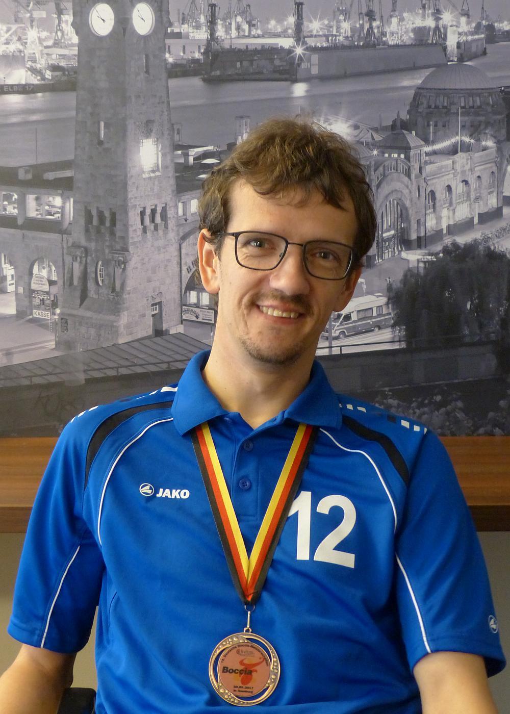Bronzemedaillengewinner Christoph Voit in Hamburg