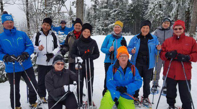 Schneeschuhwanderung des BVS Bezirk Oberpfalz in St. Englmar